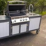 Outdoor Küche Iron White mit Gasgrill Napoleon Bipro Grill