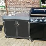 Outdoor Küche Iron Grau & Schwarz mit Gasgrill