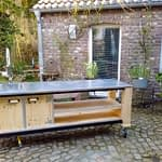 Außen Küche Lux Modul mit Boiler und Kühlschrank