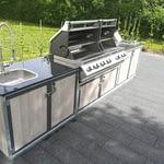 Gartenküche Iron in Weiß mit Napoleon Gasgrill Bi Pro 825