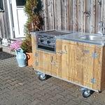 Aussenküche Country mit Gastro Grill 2-Brenner und Wasseranschluss