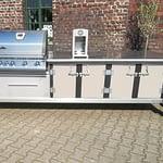 Outdoor Küche Lux mit Gas-Grill Napoleon Bilex 485 und 2er Kochfeld