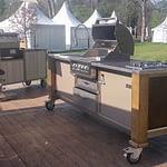 Outdoor Küchen Lux mit Broilchef Einbau Gasgrill, 2er Kochfeld und Kühlschrank