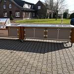 Outdoorküchen Lux 2 Teilig mit Gasgrill Napoleon Bilex 605 mit 3 Brenner und Infrarot Strahler und Sizzle Zone, 2er Kochfeld, Kühlschrank und großer zweiteiliger Spühle