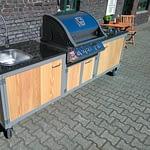 Outdoor Küche Iron mit Gas Grill Napoleon 485 und 2er Kochfeld