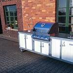 Aussen Küche Iron Metal & Weiß mit Gasgrill Napoleon Bilex 485 statt 605