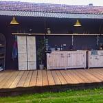Outdoor-Küchen Country - Terrasse mit Schränken und Gesamtausstattung