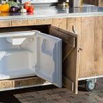 Aussenküche Country - Innenausbau Kühlschrank