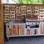 Aussenküche Iron mit Weber Gas Grill