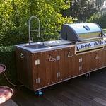 Outdoor-Küche Country mit Napoleon Gas Grill Bilex 605