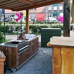 Outdoorküche Country mit Gastro Grill 4-Brenner
